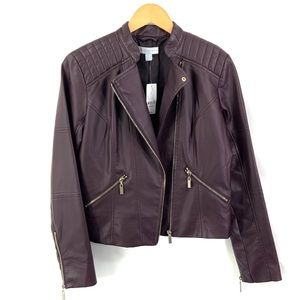 NEW YORK & CO Brand New Faux Leather Moto Jacket
